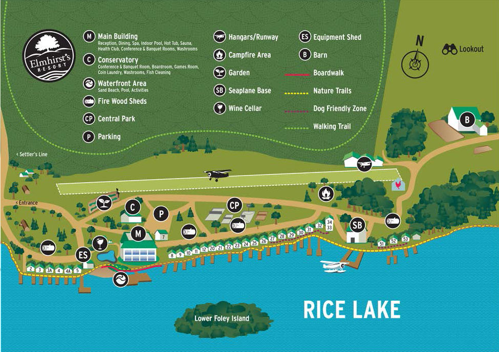 Resort Map - Elmhirst\'s Resort
